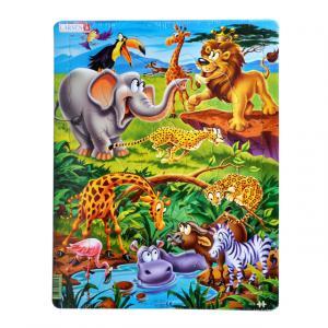 18 Parça Maxi Puzzle : Safari